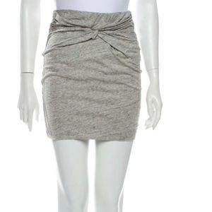 Iro mini grey cotton skirt